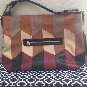 OrYANY Pebble Leather Convertible Hobo Handbag